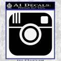 Instagram SQ Decal Sticker Black Vinyl 120x120