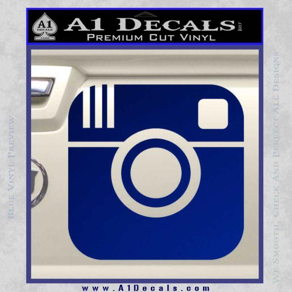 Instagram SQ Decal Sticker Blue Vinyl