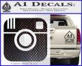 Instagram SQ Decal Sticker Carbon FIber Black Vinyl 120x97