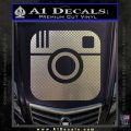 Instagram SQ Decal Sticker Carbon FIber Chrome Vinyl 120x120