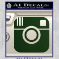Instagram SQ Decal Sticker Dark Green Vinyl 120x120