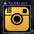 Instagram SQ Decal Sticker Gold Vinyl 120x120