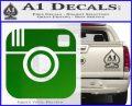 Instagram SQ Decal Sticker Green Vinyl Logo 120x97