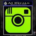 Instagram SQ Decal Sticker Lime Green Vinyl 120x120