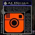 Instagram SQ Decal Sticker Orange Emblem 120x120