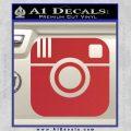 Instagram SQ Decal Sticker Red 120x120