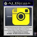 Instagram SQ Decal Sticker Yellow Laptop 120x120