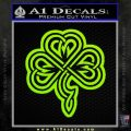 Irish Shamrock Clover Celtic D2 Decal Sticker Lime Green Vinyl 120x120