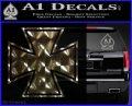 Iron Cross Decal Celtic Sticker D1 3DChrome Vinyl 120x97