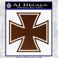 Iron Cross Decal Celtic Sticker D1 BROWN Vinyl 120x120
