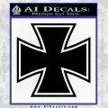 Iron Cross Decal Celtic Sticker D1 Black Vinyl 120x120