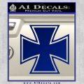 Iron Cross Decal Celtic Sticker D1 Blue Vinyl 120x120