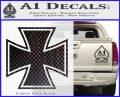 Iron Cross Decal Celtic Sticker D1 Carbon FIber Black Vinyl 120x97