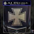 Iron Cross Decal Celtic Sticker D1 Carbon FIber Chrome Vinyl 120x120