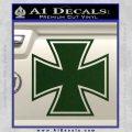 Iron Cross Decal Celtic Sticker D1 Dark Green Vinyl 120x120