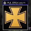 Iron Cross Decal Celtic Sticker D1 Gold Vinyl 120x120