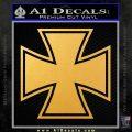 Iron Cross Decal Celtic Sticker D1 Gold Vinyl 120x120