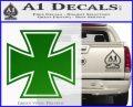 Iron Cross Decal Celtic Sticker D1 Green Vinyl Logo 120x97