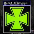 Iron Cross Decal Celtic Sticker D1 Lime Green Vinyl 120x120
