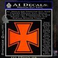 Iron Cross Decal Celtic Sticker D1 Orange Emblem 120x120