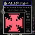Iron Cross Decal Celtic Sticker D1 Pink Emblem 120x120