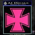 Iron Cross Decal Celtic Sticker D1 Pink Hot Vinyl 120x120