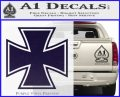 Iron Cross Decal Celtic Sticker D1 PurpleEmblem Logo 120x97