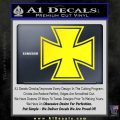 Iron Cross Decal Celtic Sticker D1 Yellow Laptop 120x120