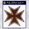 Iron Cross Decal Celtic Sticker D5 BROWN Vinyl 120x120