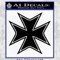 Iron Cross Decal Celtic Sticker D5 Black Vinyl 120x120
