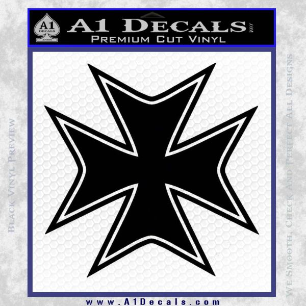 Iron Cross Decal Celtic Sticker D5 Black Vinyl