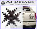 Iron Cross Decal Celtic Sticker D5 Carbon FIber Black Vinyl 120x97