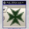 Iron Cross Decal Celtic Sticker D5 Dark Green Vinyl 120x120