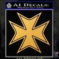 Iron Cross Decal Celtic Sticker D5 Gold Vinyl 120x120