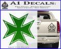 Iron Cross Decal Celtic Sticker D5 Green Vinyl Logo 120x97