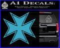 Iron Cross Decal Celtic Sticker D5 Light Blue Vinyl 120x97