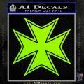 Iron Cross Decal Celtic Sticker D5 Lime Green Vinyl 120x120