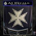 Iron Cross Decal Celtic Sticker D5 Metallic Silver Emblem 120x120