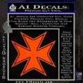 Iron Cross Decal Celtic Sticker D5 Orange Emblem 120x120
