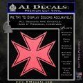Iron Cross Decal Celtic Sticker D5 Pink Emblem 120x120
