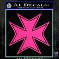 Iron Cross Decal Celtic Sticker D5 Pink Hot Vinyl 120x120