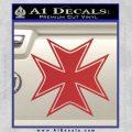 Iron Cross Decal Celtic Sticker D5 Red 120x120