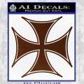 Iron Cross Decal Celtic Sticker D6 BROWN Vinyl 120x120