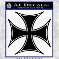 Iron Cross Decal Celtic Sticker D6 Black Vinyl 120x120