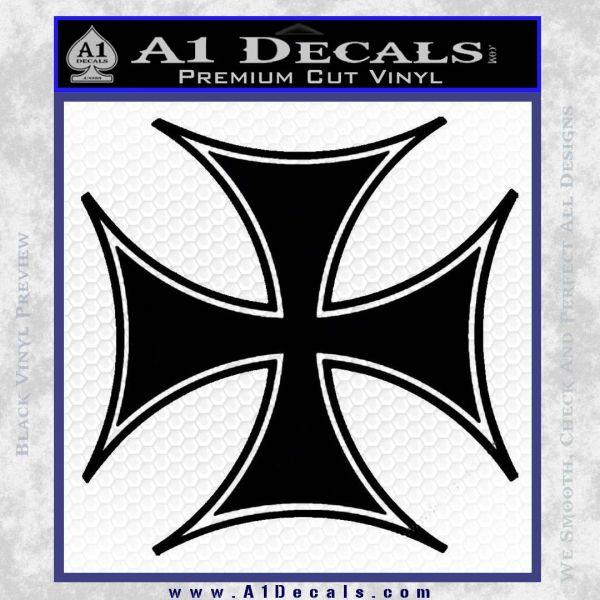 Iron Cross Decal Celtic Sticker D6 Black Vinyl