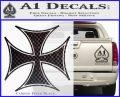 Iron Cross Decal Celtic Sticker D6 Carbon FIber Black Vinyl 120x97