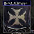 Iron Cross Decal Celtic Sticker D6 Carbon FIber Chrome Vinyl 120x120