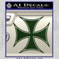 Iron Cross Decal Celtic Sticker D6 Dark Green Vinyl 120x120