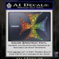 Iron Cross Decal Celtic Sticker D6 Glitter Sparkle 120x120