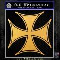Iron Cross Decal Celtic Sticker D6 Gold Vinyl 120x120